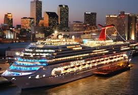 Carnival ship night
