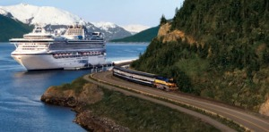 Princess Land-Sea vacations can include a ride aboard domed railroad cars north from the Pacific coast through the breathtaking Alaskan wilderness and to the Denali-Fairbanks area.